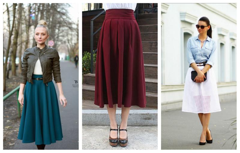 С какой обувью одеть юбку миди