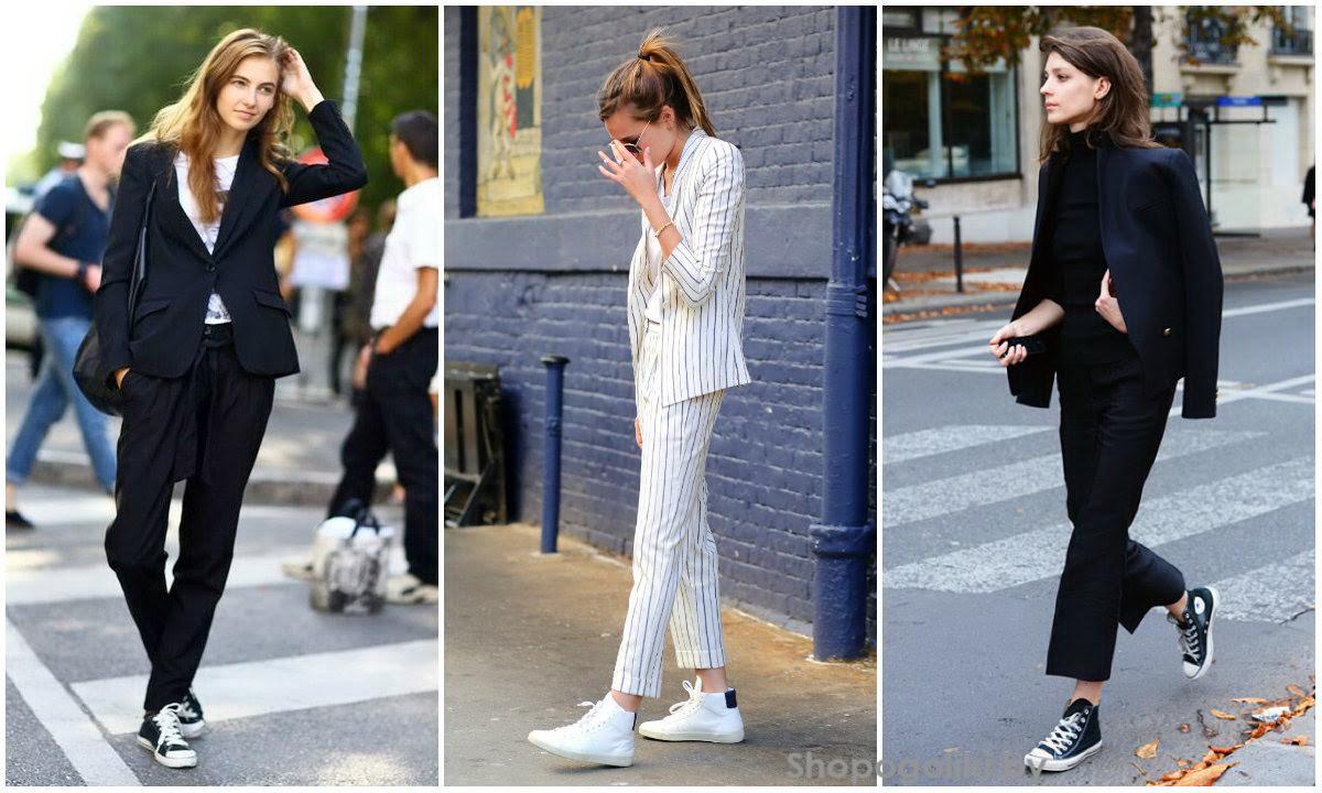 С чем одевать кроссовки в 2018