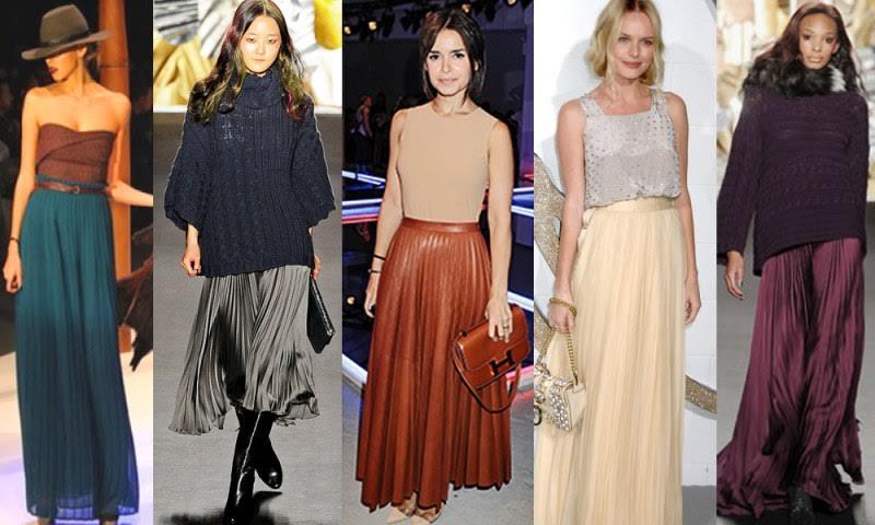 Плиссированные юбки в 2016
