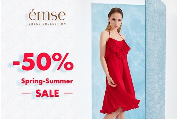 - 50 % - на всю коллекцию Весна-Лето 2018 в «émse»!