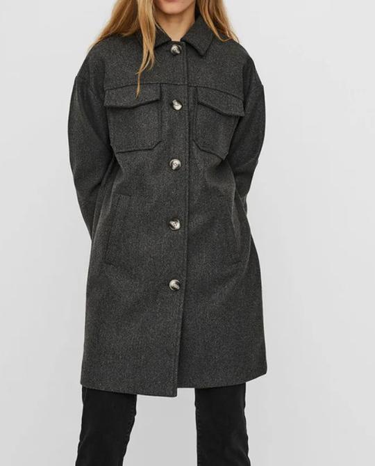 Куртка-рубашка серого цвета Vero Moda