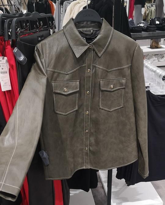 Кожаная рубашка Zara