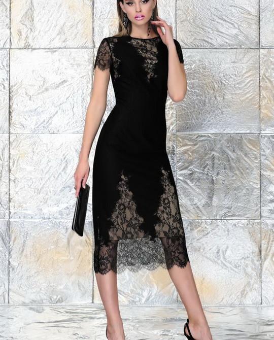 Черное кружевное платье Noche Mio