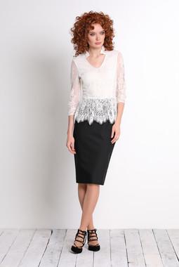 Белая кружевная блуза Noche Mio
