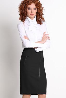 Белая блузка с бантом NocheMio