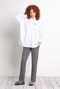 Белая рубашка свободного кроя NocheMio