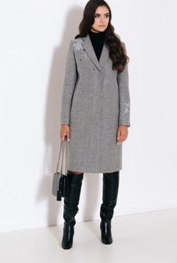 Пальто Elema серое