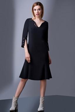 Черное платье с жемчугом Condra DeLuxe