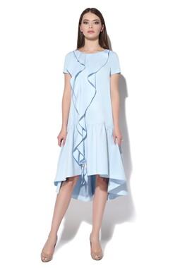 Голубое платье с воланами CONDRA DELUXE