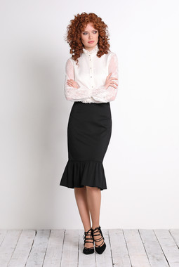 Блуза с кружевными рукавами Noche Mio