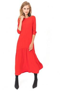 Красное платье-миди Kiara