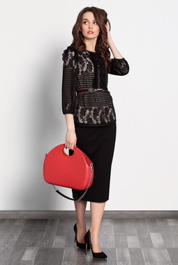 Черная кружевная блуза Noche Mio