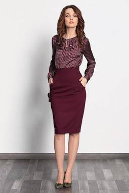 Бордовая юбка-карандаш Noche Mio