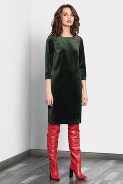 Зеленое бархатное платье Noche Mio