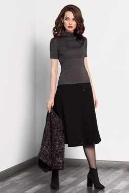 Черная А-образная юбка Noche Mio