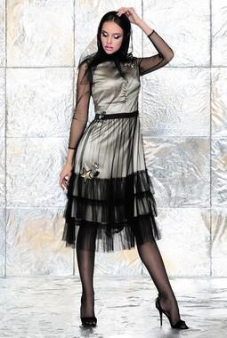 Коктейльное платье со звездами Noche Mio