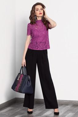 Розовая ажурная блуза Noche Mio