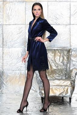 Синее бархатное платье Noche Mio