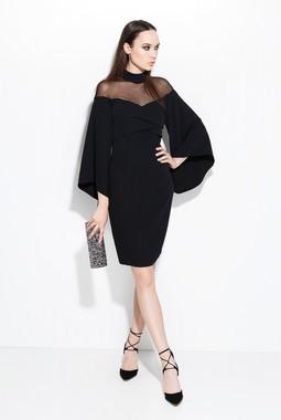 Черное комбинированное платье Favorini