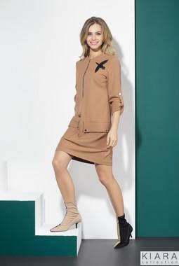 Бежевое платье Kiara