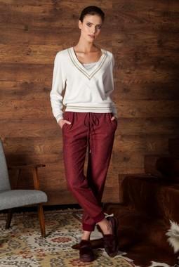 Бордовые брюки-джоггеры Nova Line