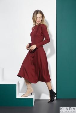 Бордовое трикотажное платье Kiara