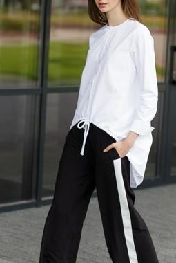 Белая блуза свободного кроя Kiara