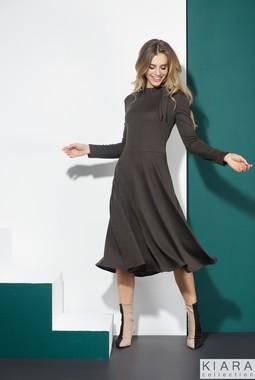 Серое трикотажное платье Kiara