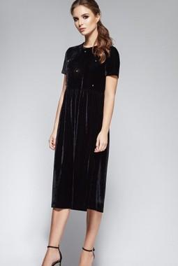 Черное платье из бархата Beauty