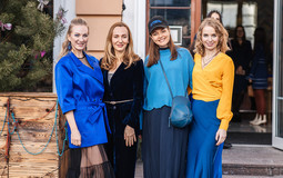 Фотоотчёт с PRETAPORTAL Fashion Coffee в цвете classic blue