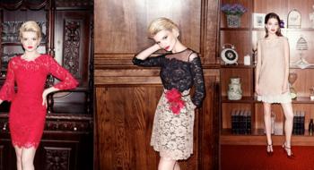 Новогодний корпоратив в белорусском платье