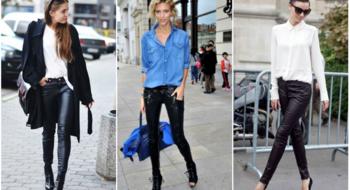 Как носить кожаные брюки