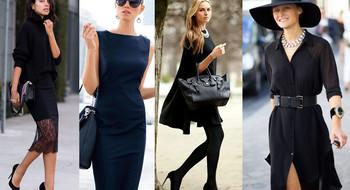 Как стильно носить черный?