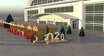 """Новогодняя ярмарка """"Метелица"""" возле Комаровского рынка"""