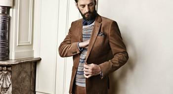 Один из главных трендов мужской моды осени 2016 - коричневый цвет