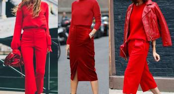 Как стильно носить красный?