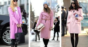 Розовое пальто: с чем носить, где купить в Минске