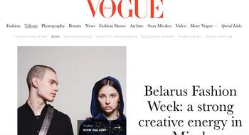 Vogue Italia опубликовал фаворитов Belarus Fashion Week