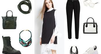 Вещь дня. Белая рубашка + черный жилет